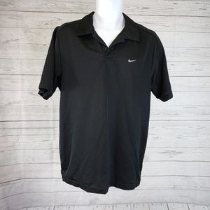 Nike Short Sleeve Polo Sz Large Solid Black